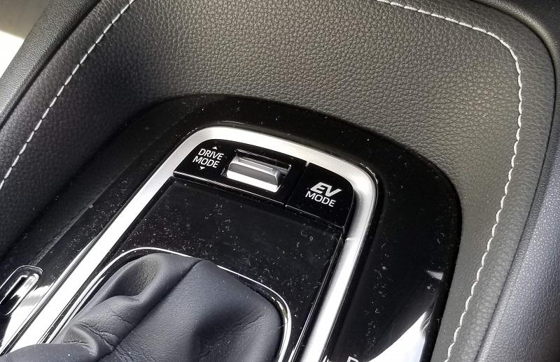 カローラスポーツのドライブモード切替スイッチ