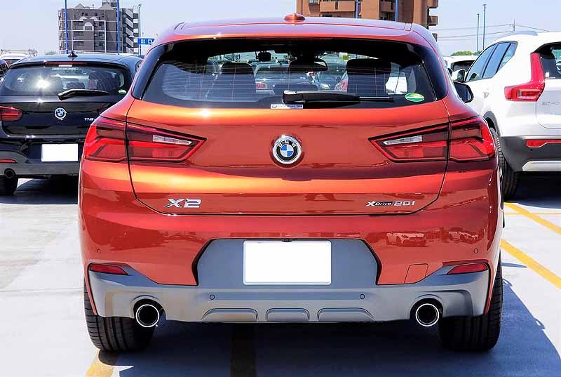 BMWX2のリアスタイル