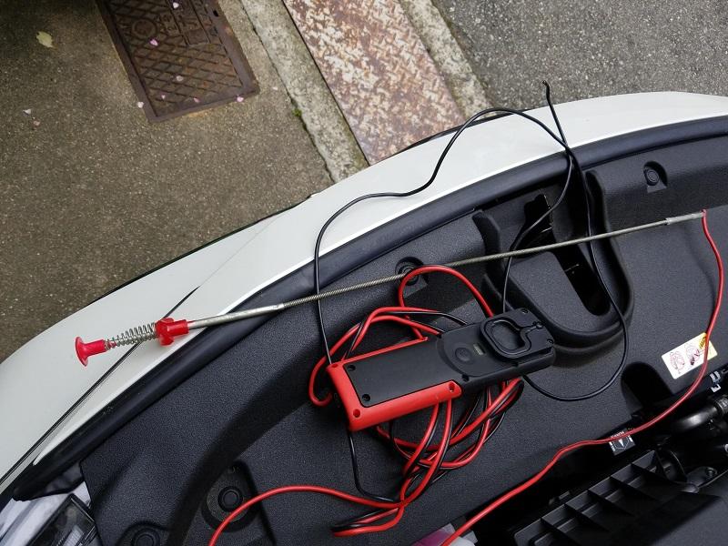 カローラスポーツでバッテリー直結