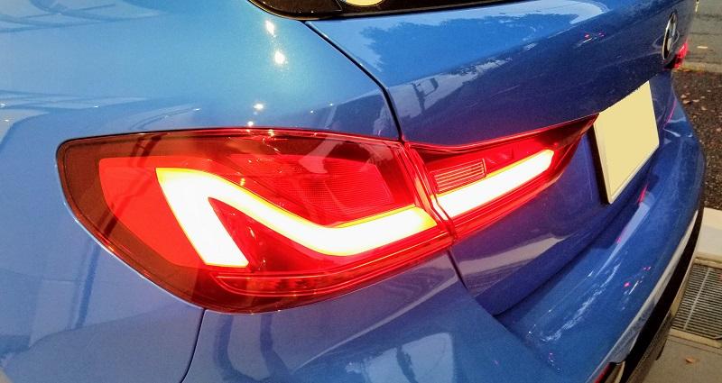 BMW1シリーズのテールランプ
