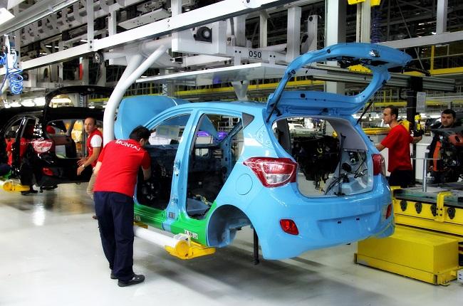 現代自動車の生産ライン