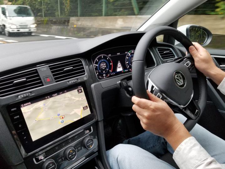 VWゴルフのカーナビゲーション