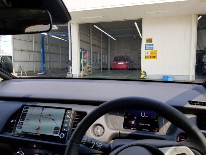 新型フィットの運転席の視界