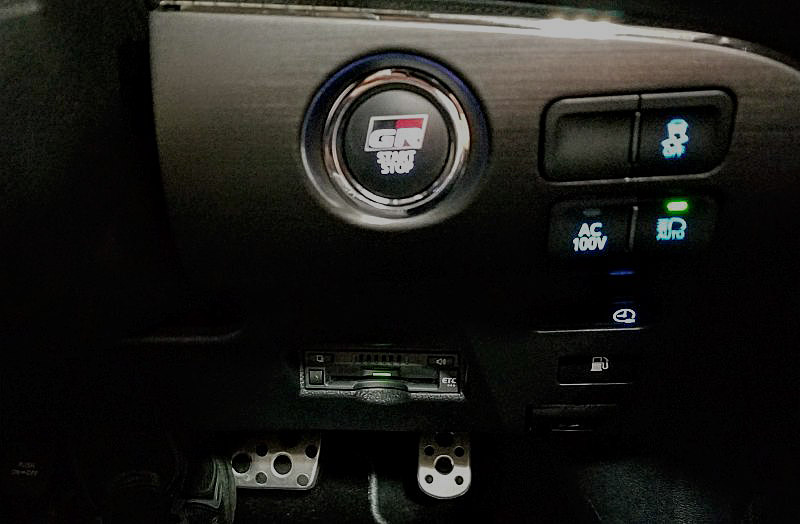 プリウスPHV GRスポーツのスタートボタン