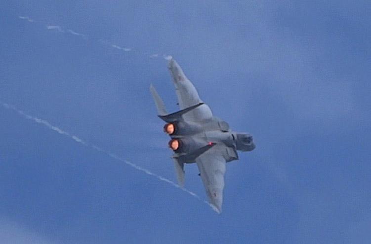 F15の展示飛行