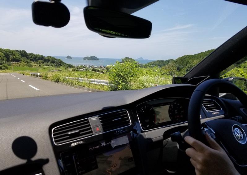 VWゴルフの運転シーン